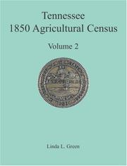 Cover of: Tennessee 1850 Agricultural Census