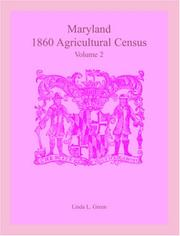 Cover of: Maryland 1860 Agricultural Census