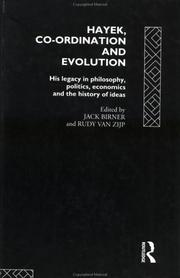 Cover of: Hayek, Coordination and Evolution
