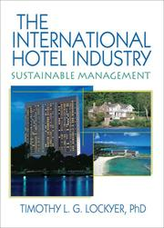 Cover of: International Hotel Industry