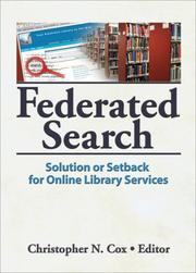 Cover of: Federated Search
