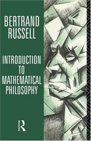 Cover of: Introduction to mathematical philosophy
