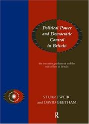 Cover of: Democratic Control of Political Power
