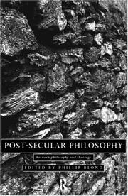 Cover of: Post-Secular Philosophy | Phillip Blond