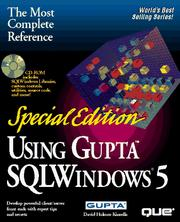Cover of: Using Gupta Sqlwindows 5/Book and Compact Disk
