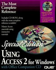 Cover of: Using Access 2 for Windows with CD-ROM
