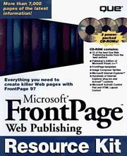 Cover of: Microsoft Frontpage Web Publishing Resource Kit