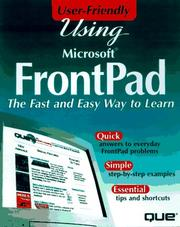 Cover of: Using Microsoft Frontpad