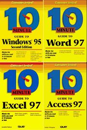 Cover of: 10 Minute Guide to Windows 95, Word 97, Excel 97 & Access 97