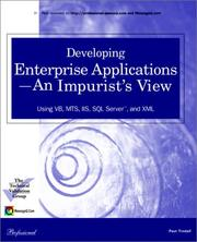 Cover of: Developing Enterprise Applications -An Impurist's View