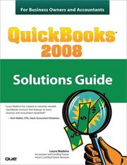 Cover of: QuickBooks 2008 Solutions Guide for Business Owners and Accountants
