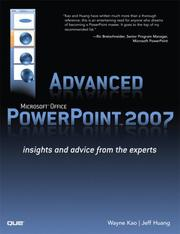 Cover of: Advanced Microsoft Office PowerPoint 2007
