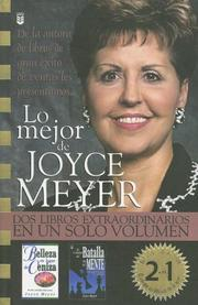 Cover of: Lo Mejor De Joyce Meyer/the Best of Joyce Meyer: DOS Libros Extraordinarios En UN Solo Volumen