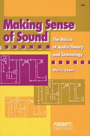 Cover of: Making Sense of Sound | A. Evans