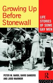 Cover of: Growing Up Before Stonewall