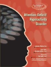 Cover of: Attention-deficit/hyperactivity Disorder (Psychological Disorders)