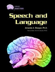 Cover of: Speech And Language (Gray Matter)