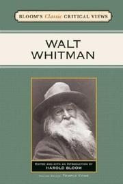 Cover of: Walt Whitman (Bloom