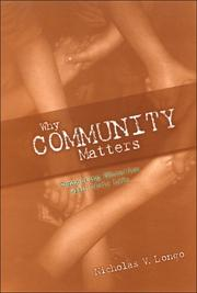 Cover of: Why Community Matters