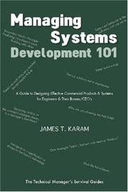 Cover of: Managing Systems Development 101