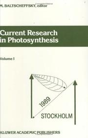 Cover of: Current Research in Photosynthesis Proce