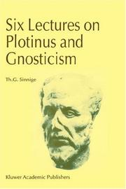 Cover of: Six Lectures on Plotinus and Gnosticism