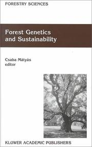Cover of: Forest Genetics and Sustainability (FORESTRY SCIENCES Volume 63) (Forestry Sciences)