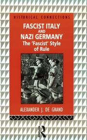 Cover of: Fascist Italy and Nazi Germany