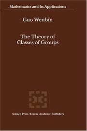 Cover of: The Theory of Classes of Groups