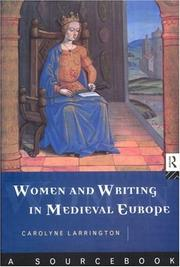 Cover of: Women and writing in medieval Europe