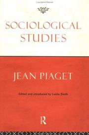Cover of: Sociological studies