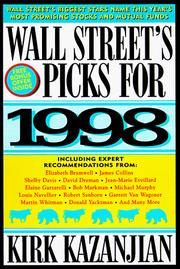 Cover of: Wall Street's Picks for 1998 (Serial)
