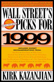 Cover of: Wall Street's Picks for 1999 (Serial)
