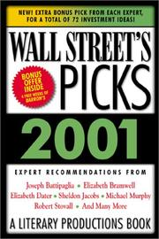 Cover of: Wall Street's Picks for 2000