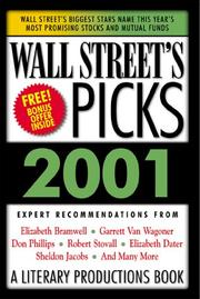 Cover of: Wall Street's Picks 2001