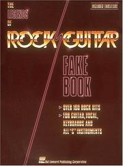 Cover of: Legends of Rock Guitar Fake Book