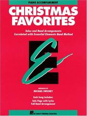 Cover of: Essential Elements Christmas Favorites - Piano Accompaniment