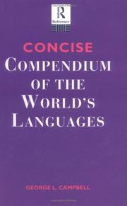 Cover of: Concise compendium of the world's languages