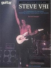 Cover of: The Guitar Style of Steve Vai