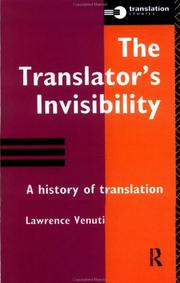 Cover of: The Translator's Invisibility | L. Venuti