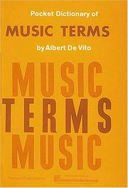 Cover of: Pocket Dictionary Of Music Terms |