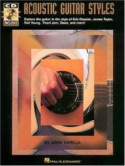 Cover of: Acoustic Guitar Styles |