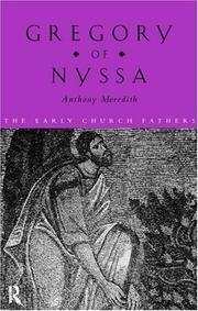 Cover of: Gregory of Nyssa | Anthony Meredith