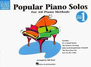 Cover of: Popular Piano Solos - Level 1 | Bill Boyd