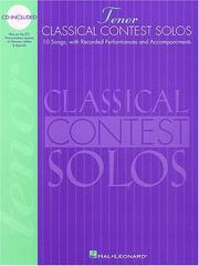 Cover of: Classical Contest Solos - Tenor | Hal Leonard Corp.