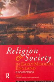 Cover of: Religion and Society in Early Modern England