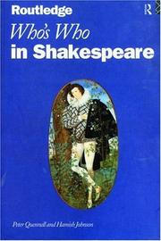 Cover of: Who's Who in Shakespeare
