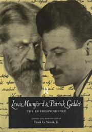 Cover of: Lewis Mumford and Patrick Geddes