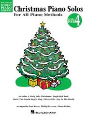 Cover of: Christmas Piano Solos - Level 4 | Phillip Keveren