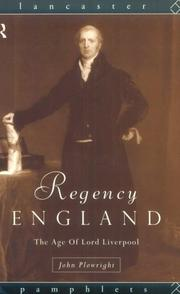 Cover of: Regency England | John Plowright